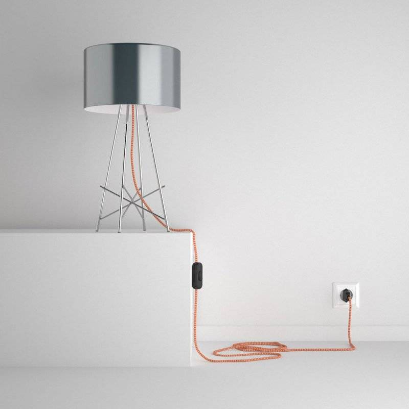 SnakeBis cordon avec douille et câble textile ZigZag Orange RZ15