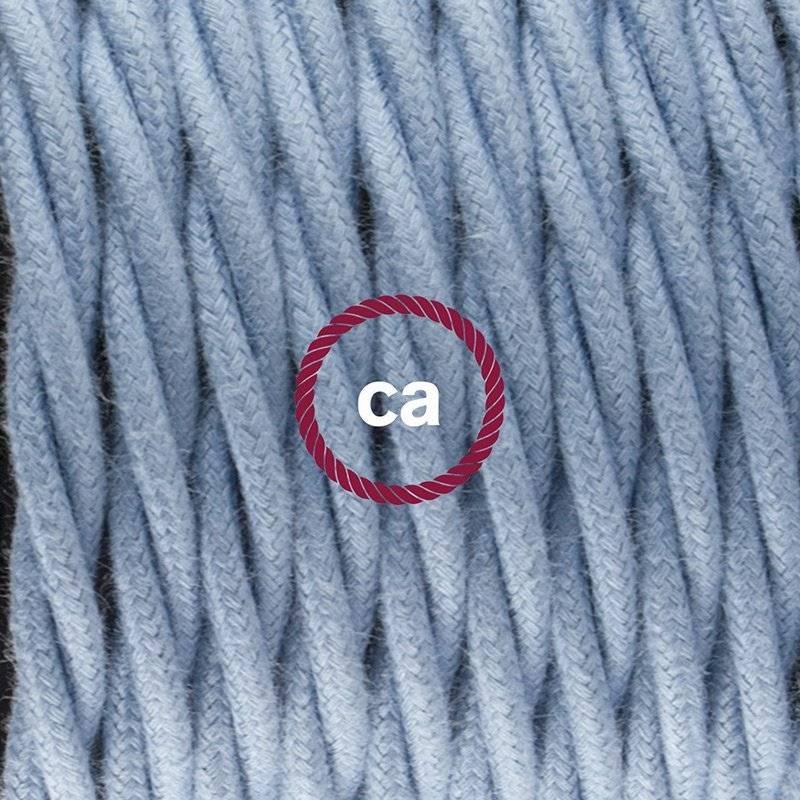 SnakeBis cordon avec douille et câble textile Coton Océan TC53