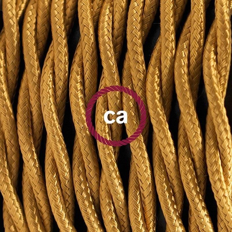SnakeBis cordon avec douille et câble textile Effet Soie Or TM05