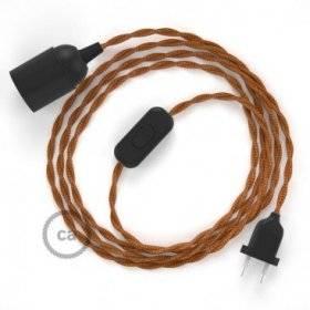 SnakeBis cordon avec douille et câble textile Effet Soie Whiskey TM22