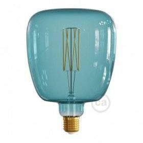 Ampoule LED XXL Bona série Pastel, Bleu Océan (Ocean Blue), filament droit 4W E27 Dimmable 2200K