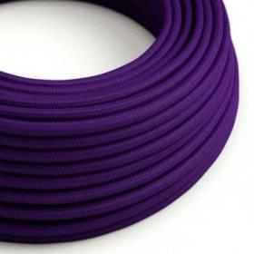 Fil Électrique Rond Gaine De Tissu De Couleur Effet Soie Tissu Uni Violet RM14