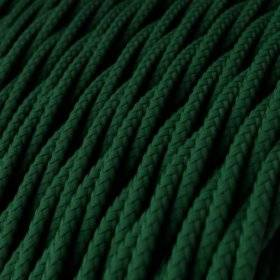 Fil Électrique Torsadé Gaine De Tissu De Couleur Effet Soie Tissu Uni Vert Foncé TM21