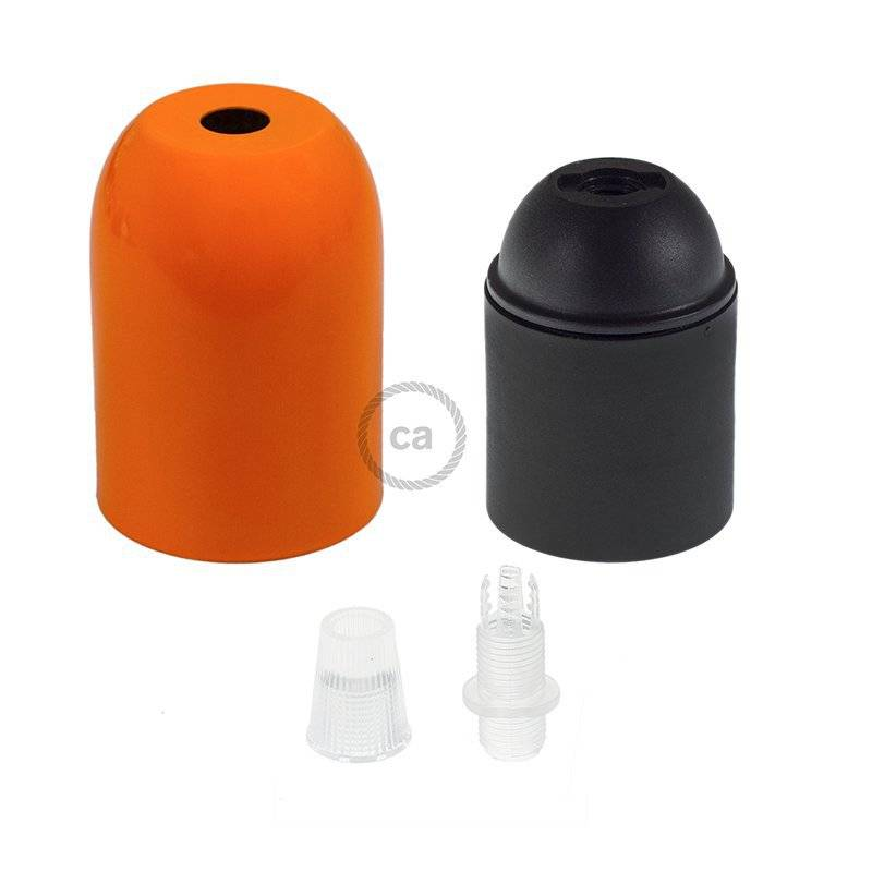 Kit porte-lampe hémisphérique métal E27