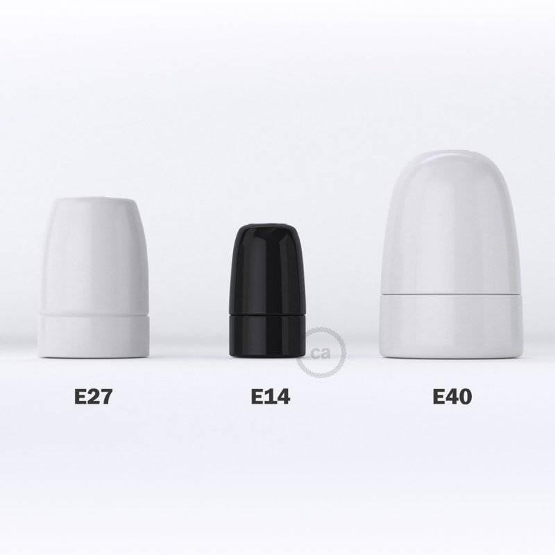 Kit douille E14 en porcelaine