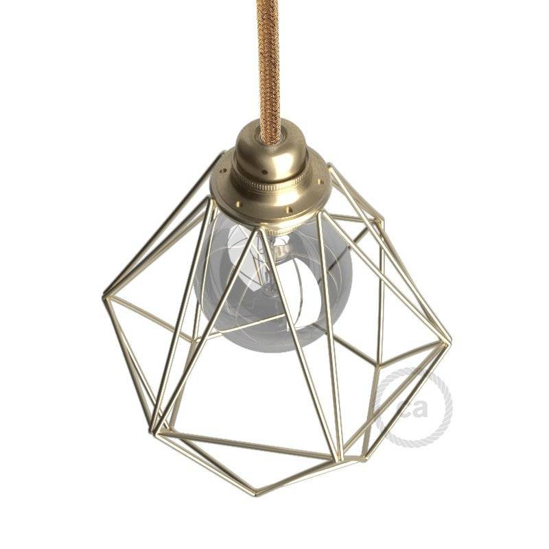 Abat-jour Cage Diamond E27 en métal