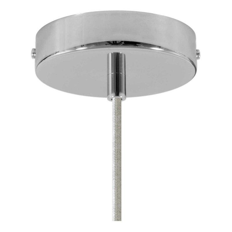 Suspension fabriquée en Italie avec câble textile, abat-jour Bistrot et finition en métal