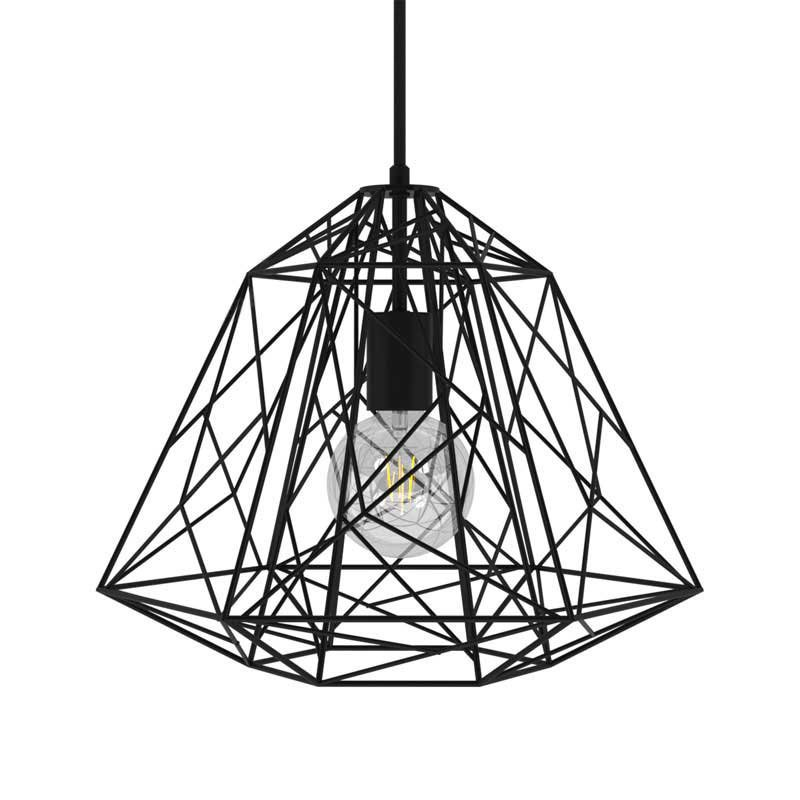 Suspension fabriquée en Italie avec câble textile, abat-jour Apollo et finition en métal