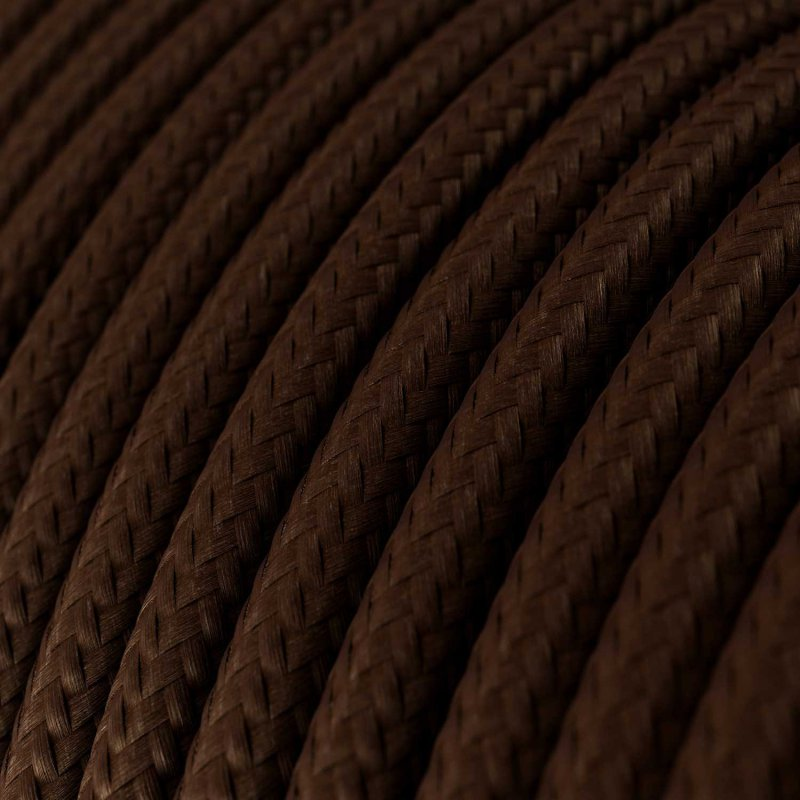 Suspension fabriquée en Italie avec câble textile, abat-jour Industriel et finition en métal