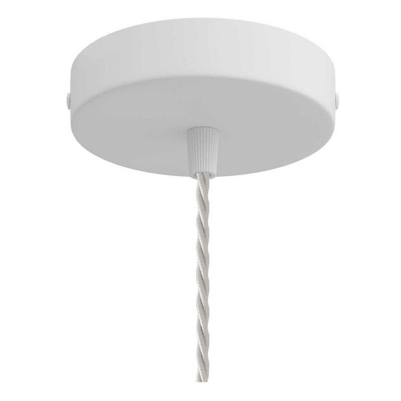 Suspension fabriquée en Italie avec câble textile, abat-jour cage Drop et finition en métal