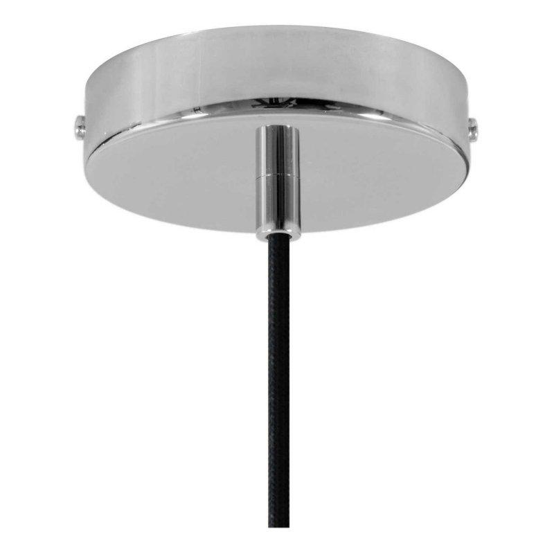 Suspension fabriquée en Italie avec câble textile, abat-jour Prisme en ciment et finition en métal