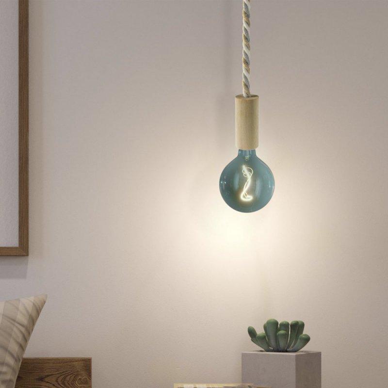 Suspension fabriquée en Italie avec corde XL et douille en bois