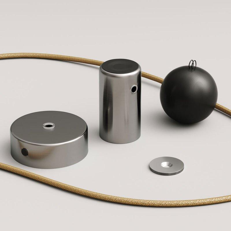 Lampe pendante Magnetic®-Pendel avec câble textile et douille magnétique réglable - Made in Italy