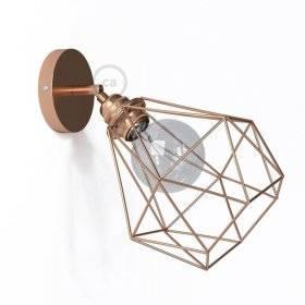 Fermaluce Metallo 90°, applique murale réglable en métal avec abat-jour Diamond