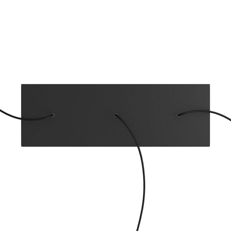 Kit rosace XXL Rose-One rectangulaire à 3 trous alignés, dimension 675 x 225 mm