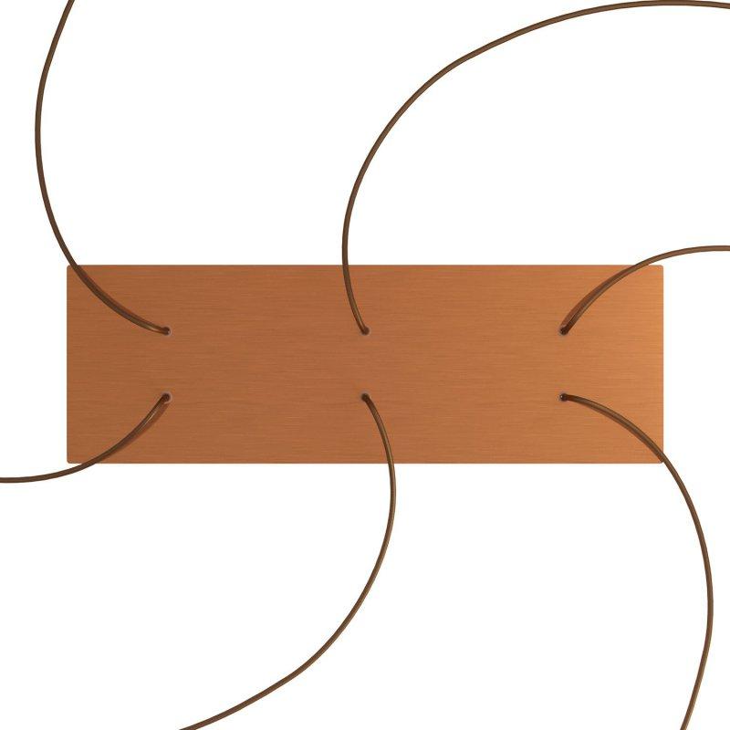 Kit rosace XXL Rose-One rectangulaire à 6 trous, dimension 675 x 225 mm