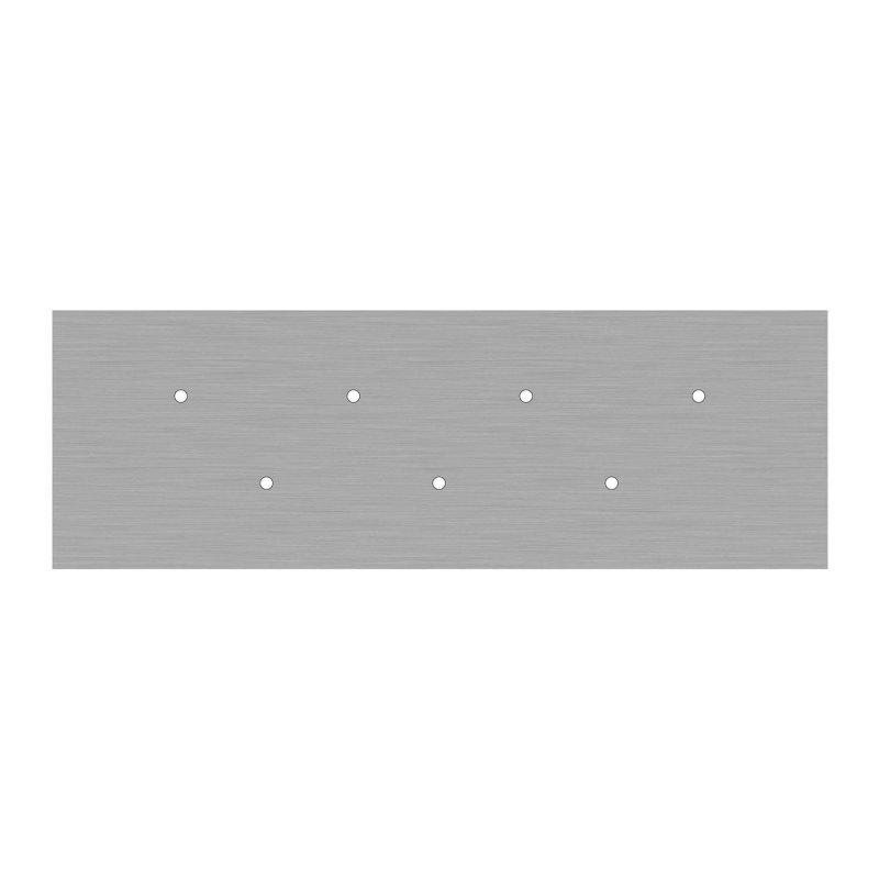Kit rosace XXL Rose-One rectangulaire à 7 trous, dimension 675 x 225 mm
