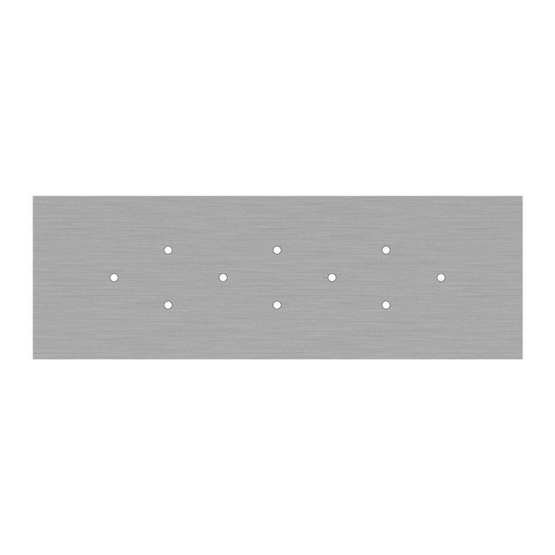 Kit rosace XXL Rose-One rectangulaire à 10 trous, dimension 675 x 225 mm