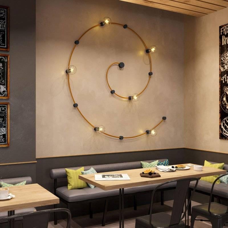 Fixation plafond en bois pour câbles de guirlandes lumineuses et Filé system. Fabriqué en Italie