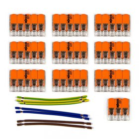 Kit de connexion WAGO compatible avec câble 3x pour Rosace à 10 trous