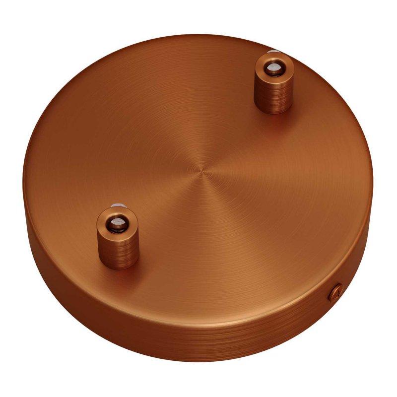 Kit rosace métallique cylindrique à deux trous