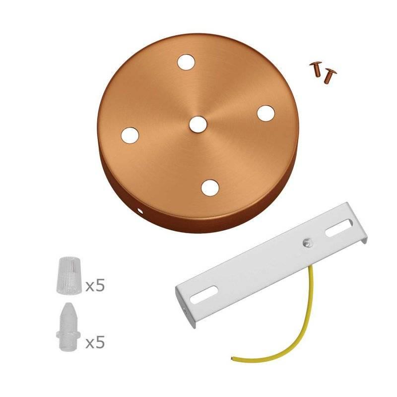 Kit rosace métallique cylindrique à 5 trous