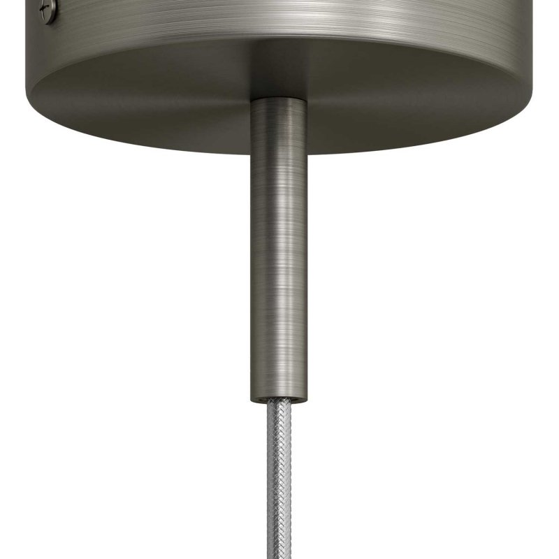 Serre-câble cylindrique en métal long 7 cm avec tige, écrou et rondelle