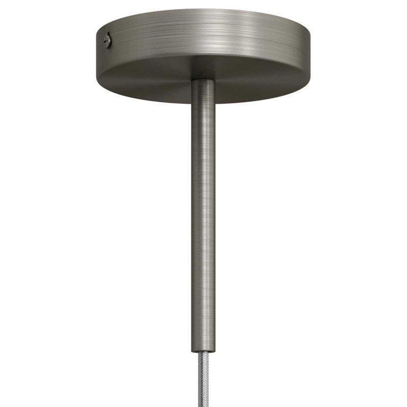 Serre-câble cylindrique en métal long 15 cm avec tige, écrou et rondelle