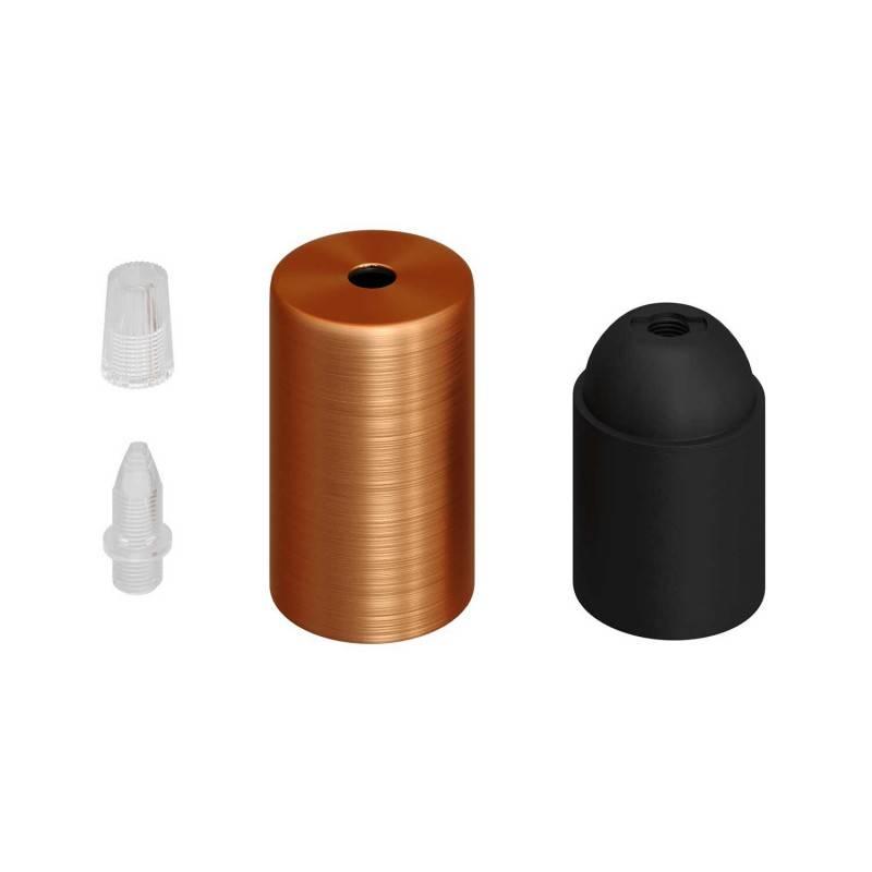 Kit douille E27 cylindrique en métal