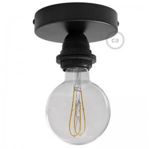 Fermaluce Métal, avec support de lampe fileté E27, source lumineuse murale ou plafonnier en métal
