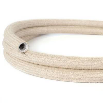Creative-Tube, tube flexible avec revêtement Lin Naturel Neutre RN01, diamètre 20 mm