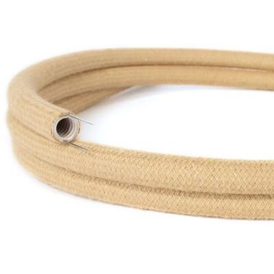 Creative-Tube, tube flexible avec revêtement tissu Effet Soie Jute RN06, diamètre 20 mm