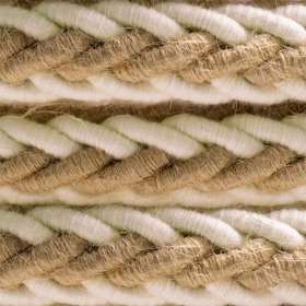 Cordon tressé en jute et coton brut blanc 2XL, câble électrique 2x0,75 10 cm