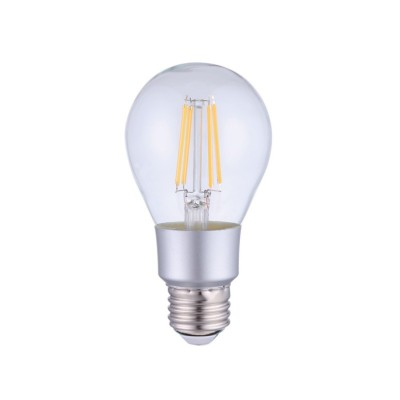 Ampoule LED Smart Wifi A60 goutte transparente à filament droit 6W E27 Dimmable 2700K