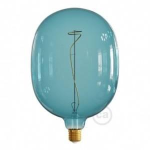 Ampoule LED XXL Egg série Pastel, Bleu Océan (Ocean Blue), filament liane 4W E27 Dimmable 2200K