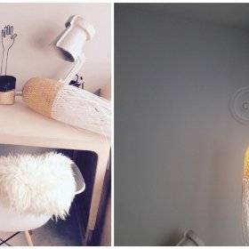 Myriam Delon: éclairage vintage pour la chambre